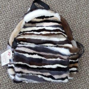 Mink Fur Backpack